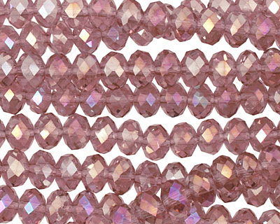 Foxglove AB Crystal Faceted Rondelle 6mm