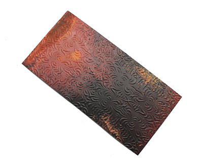 Lillypilly Rojo Y Negro Morphed Embossed Patina Copper Sheet 3