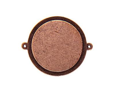 Nunn Design Antique Copper (plated) Raised Tag Grande Circle Link 44x37mm