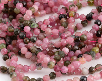 Tourmaline Faceted Round 3-4mm