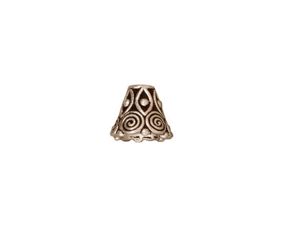 TierraCast Antique Silver (plated) Spiral Cone 8x9mm