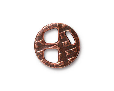 TierraCast Antique Copper (plated) Tribuckle 18mm