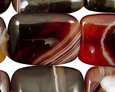 Brown Lace Agate Thin Pillow 30x22mm