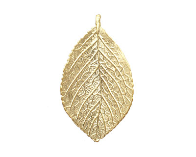 Ezel Findings Gold (plated) Nannyberry Leaf Link 36x21mm
