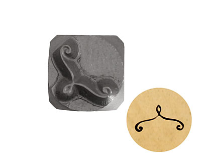 Corner Scroll Metal Stamp 6mm