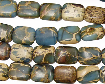 Blue Impression Jasper Thin Pillow 10x8mm