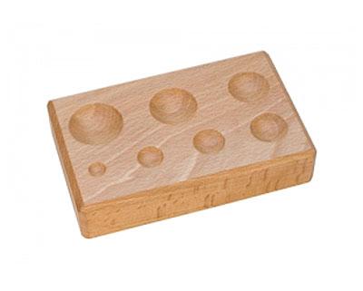 Hardwood Forming Block w/ 7 Round Depressions