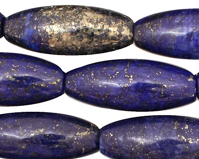 Afghanistan Lapis Rice 30x10mm