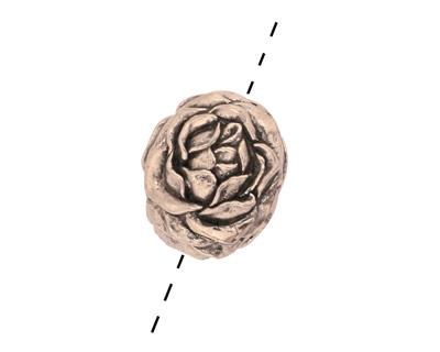 Green Girl Pewter Rose Blossom 18x15mm