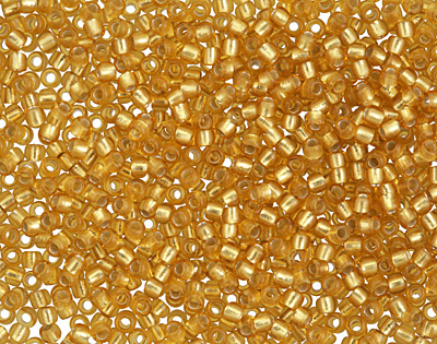 TOHO Frosted Topaz (with Silver Lining) Round 11/0 Seed Bead