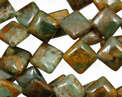 African Green Opal Diamond 12mm