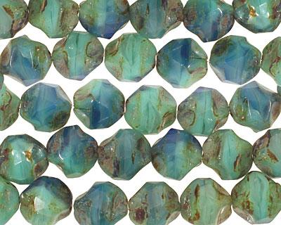 Czech Glass Aquamarine Water Chandelier Cut 8mm