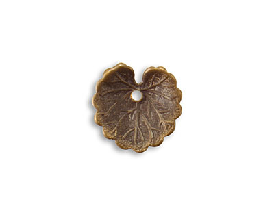 Vintaj Natural Brass Wooded Ivy 14.5mm