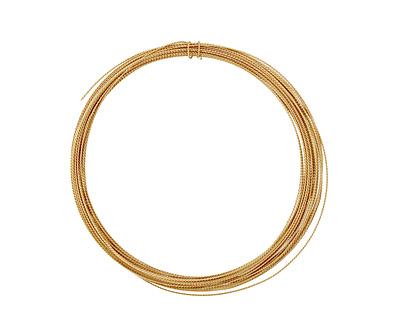 German Style Wire Non Tarnish Brass Fancy Round 24 gauge, 5.5 meters