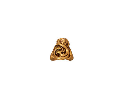 TierraCast Antique Gold (plated) Lily Cone 8mm