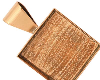 Copper Square Bezel 26mm