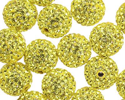 Dandelion Pave (w/ Preciosa Crystals) Round 12mm