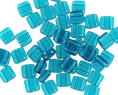 CzechMates Glass Teal 2-Hole Tile 6mm