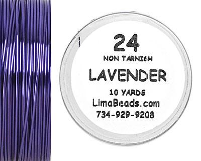 Parawire Lavender 24 Gauge, 10 Yards