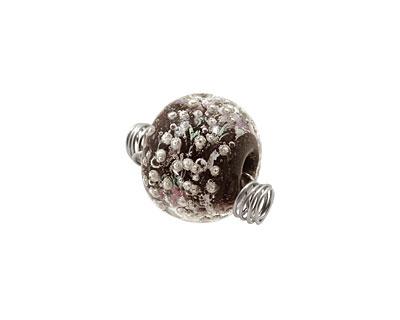 Unicorne Beads Valetta w/ Silver Rondelle 16x20mm