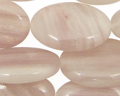 Natural Lavender Quartz Flat Oval 30x20mm