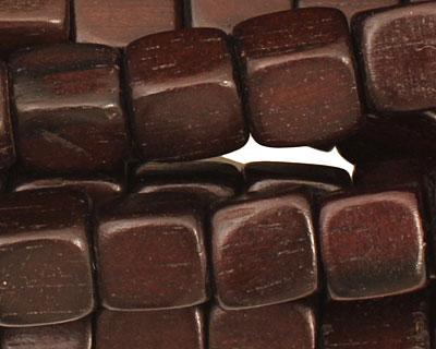Ebony Wood Cube 7mm