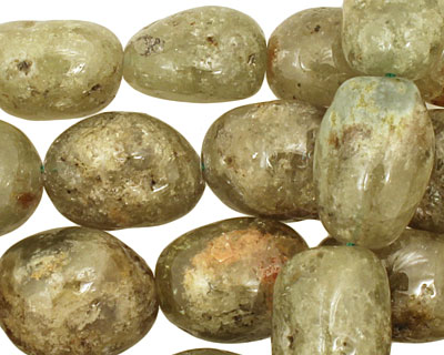 Green Garnet Tumbled Nugget 13-17x11-12mm