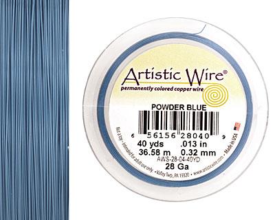Artistic Wire Powder Blue 28 gauge, 40 yards
