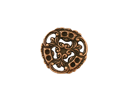 Stampt Antique Copper (plated) Pinwheel Connector 17x18mm