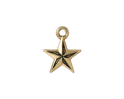 TierraCast Antique Gold (plated) Nautical Star Charm 15x18mm