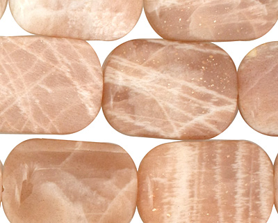 Peach Moonstone Thin Pillow 25x18mm