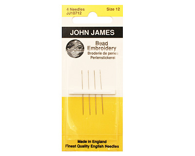 John James Size 12 English Bead Embroidery Needles