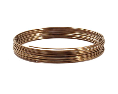 Remembrance Stainless Steel Memory Wire Harvest Gold Bracelet .25 oz.
