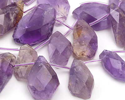 Ametrine Faceted & Rough Drop Graduated 15-28x20-45mm