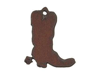 The Lipstick Ranch Rusted Iron Small Cowboy Boot Charm 27x32mm