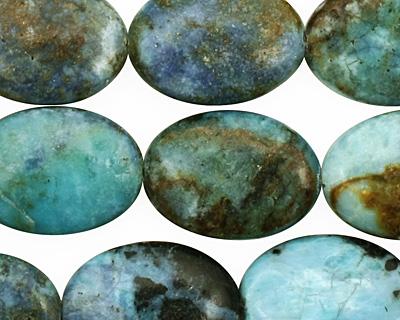 Blue Opal Flat Oval 18x13mm