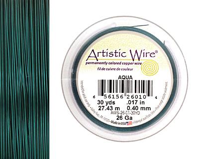 Artistic Wire Aqua 26 gauge, 30 yards
