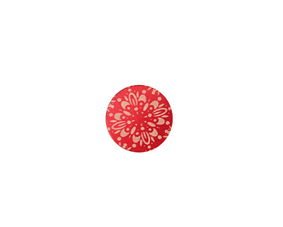 Lillypilly Red Kaleidoscope Anodized Aluminum Disc 11mm, 24 gauge