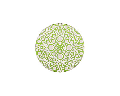 Lillypilly Lime Green Geometrics Anodized Aluminum Disc 19mm, 24 gauge
