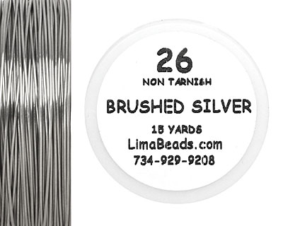 Parawire Non-Tarnish Brushed Silver 26 Gauge, 15 Yards