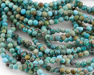Chinese Turquoise Faceted Round 3mm