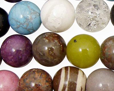 Multi Gemstone Round 14mm