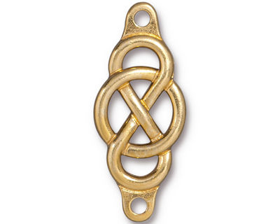 TierraCast Gold (plated) Infinity Centerpiece Link 35x15mm