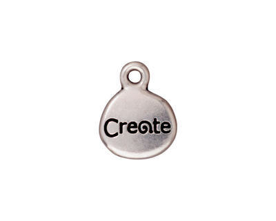 TierraCast Antique Silver (plated) Create Charm w/ Glue In 13x16mm