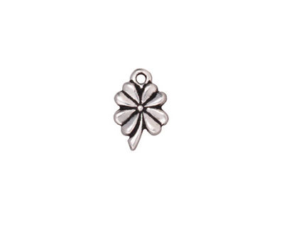 TierraCast Antique Silver (plated) 4-Leaf Clover 9x13mm