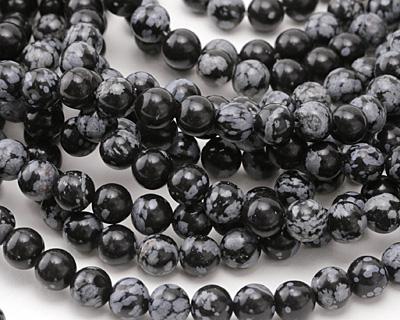 Snowflake Obsidian Round 8.5-9mm