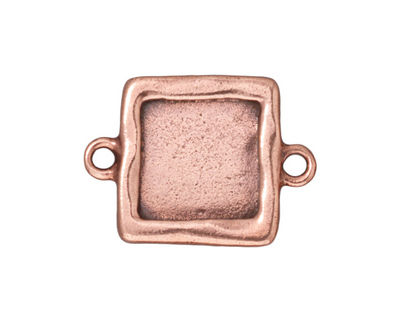 TierraCast Antique Copper (plated) Simple Square Link Frame 26x19mm