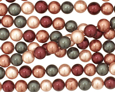 Berries Mix Shell Pearl Round 6mm