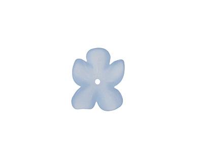 Matte Light Sapphire Lucite Hibiscus Flower 3x11-14mm