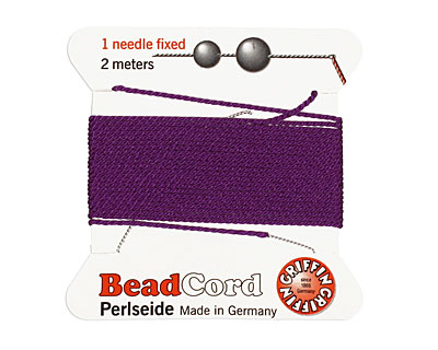 Amethyst Griffin Silk Beading Cord Size 8, 2 meters